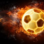 Огнен футбол и то буквално!