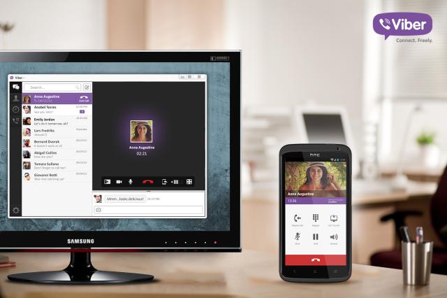 Viber с десктоп приложение