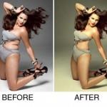 Звездите преди и след Фотошоп