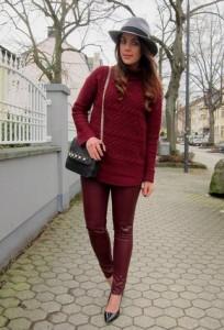 Хубав плетен пуловер