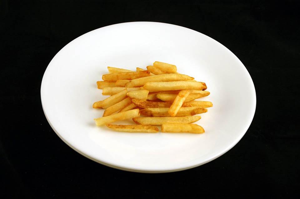 как изглеждат 200 калории - пържени картофи