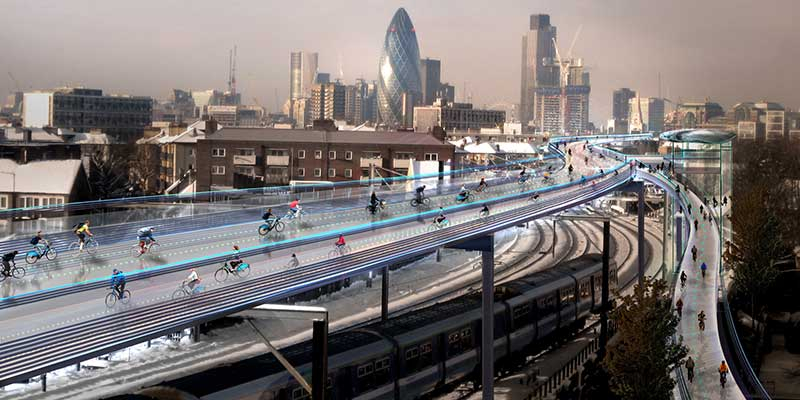 Създават SkyCycle в Лондон