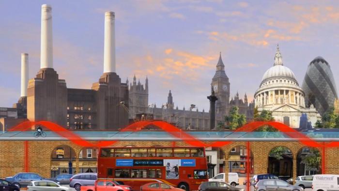 Изграждат велосипедни алеи в Лондон с проект на име SkyCycle