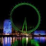 London Eye в зелено заради Свети Патрик