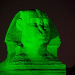 Египет в зелено заради Свети Патрик