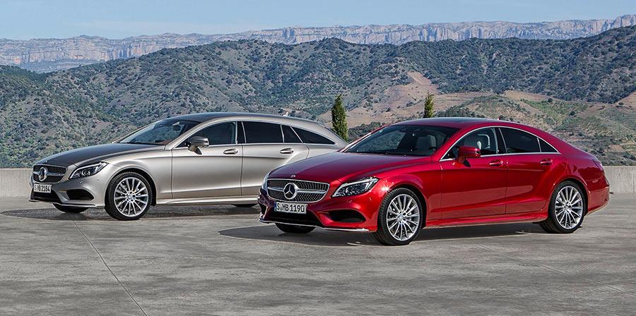 Mercedes CLS и фаровете от бъдещето