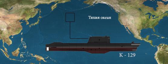 Останките на подводницата К-129