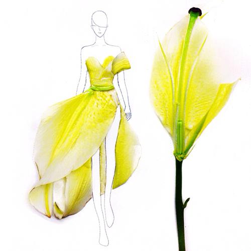 цветята вдъхновение в модата