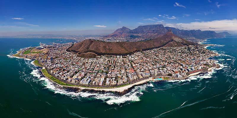 Кейптаун от птичи поглед