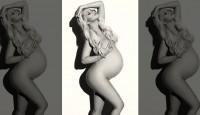 Бременната Кристина Агилера в гола фотосесия