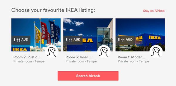 Airbnb предлага нощувки вIKEA