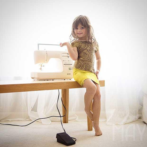 4-годишната модна дизайнерка