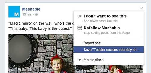 """Facebook - """"Запази за по-късно"""""""