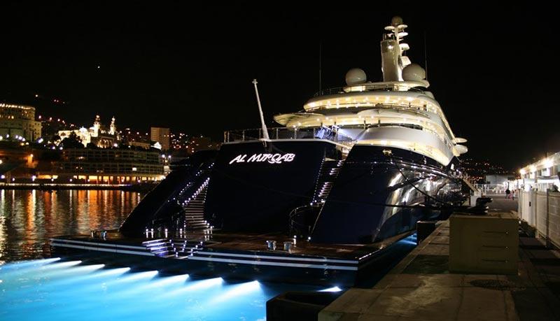 Al Mirqab е сред топ 10 на най-скъпите яхти в света
