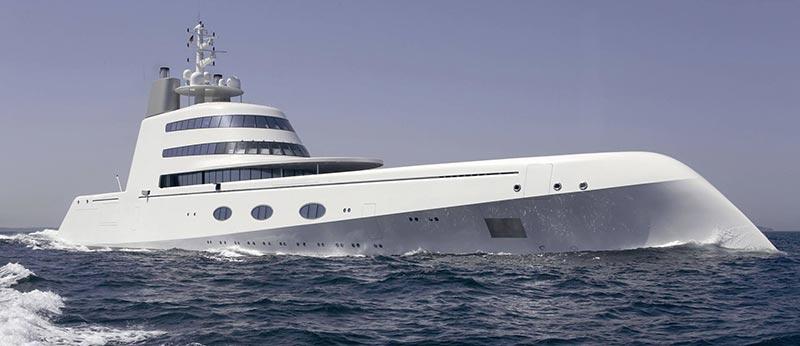 Superyacht A е в топ 5 на най-скъпите яхти в света