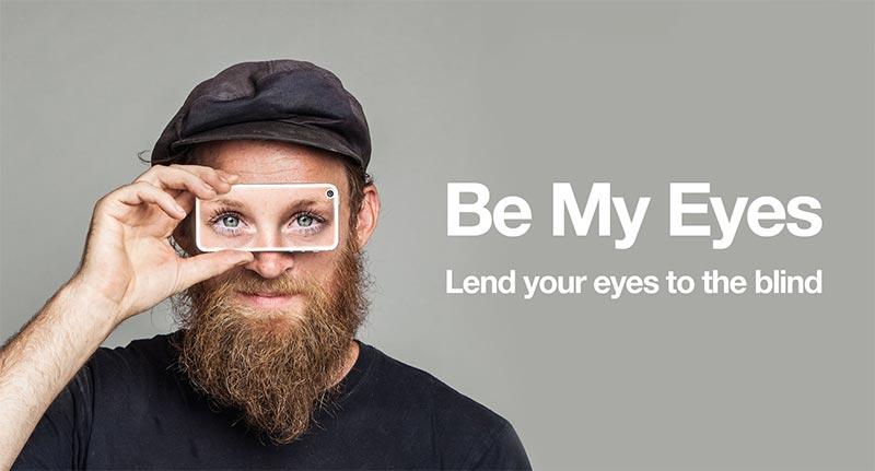 Помогнете на слепите хора чрез Be My Eyes