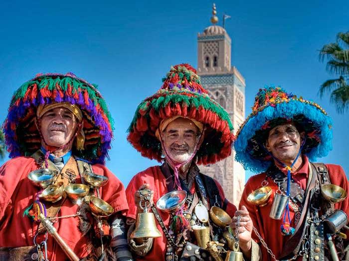 Хората в Маракеш, Мароко