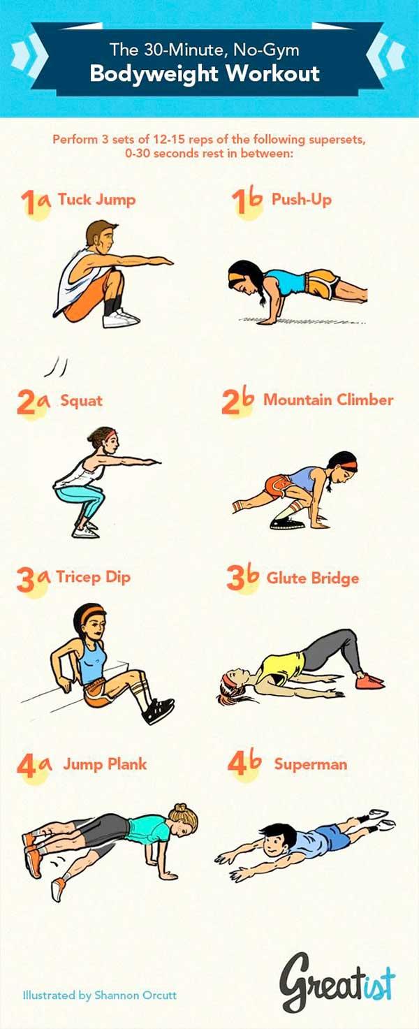 Уикенд упражнения за вкъщи