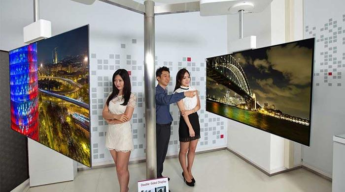 LG двустранен телевизор
