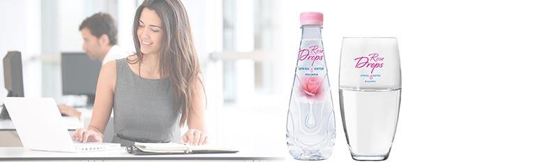Минерална вода с екстракт от розово масло