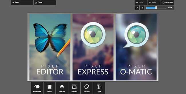 Pixlr - редакция на снимки