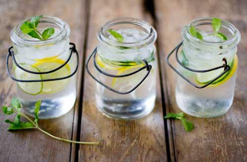 Детокс вода - лимон и мента