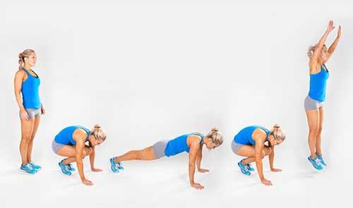 упражнения, които горят повече калории от бягането - бърпита