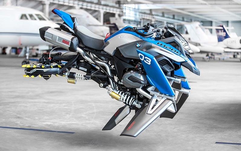 Създадоха летящ мотоциклет