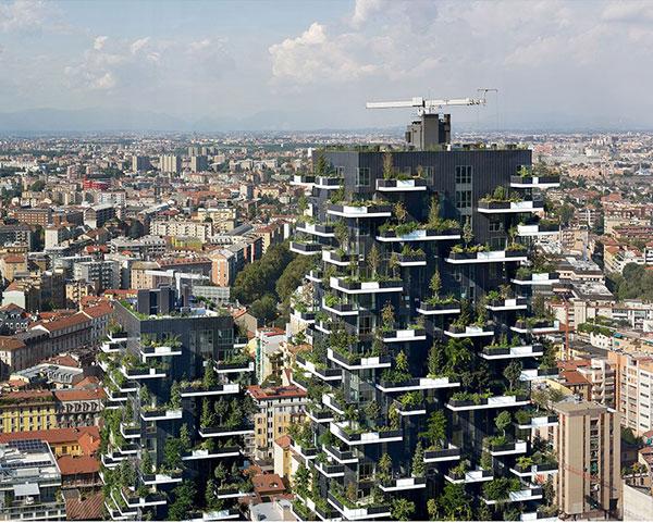 вертикални гори в Милано
